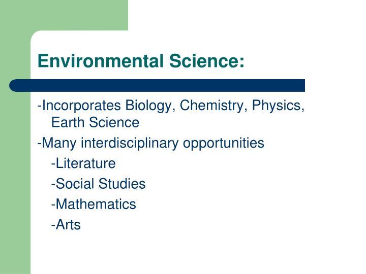 Environmental Science:
