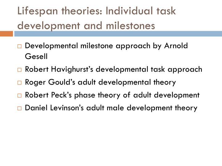 Opinion daniel levinson adult development theory