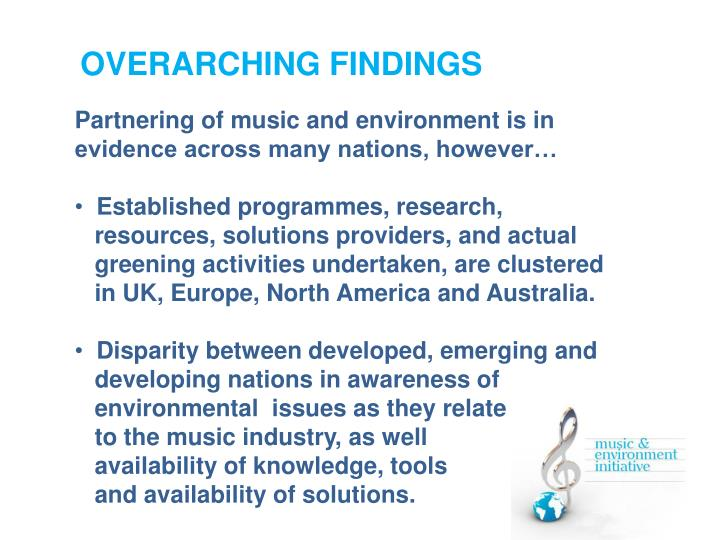 OVERARCHING FINDINGS