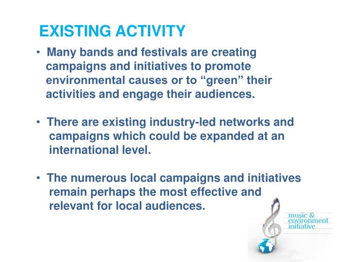 EXISTING ACTIVITY