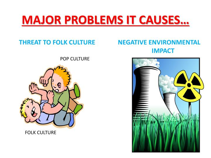MAJOR PROBLEMS IT CAUSES…