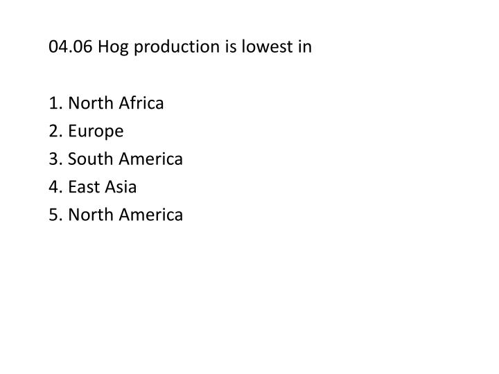 04.06 Hog production is lowest in