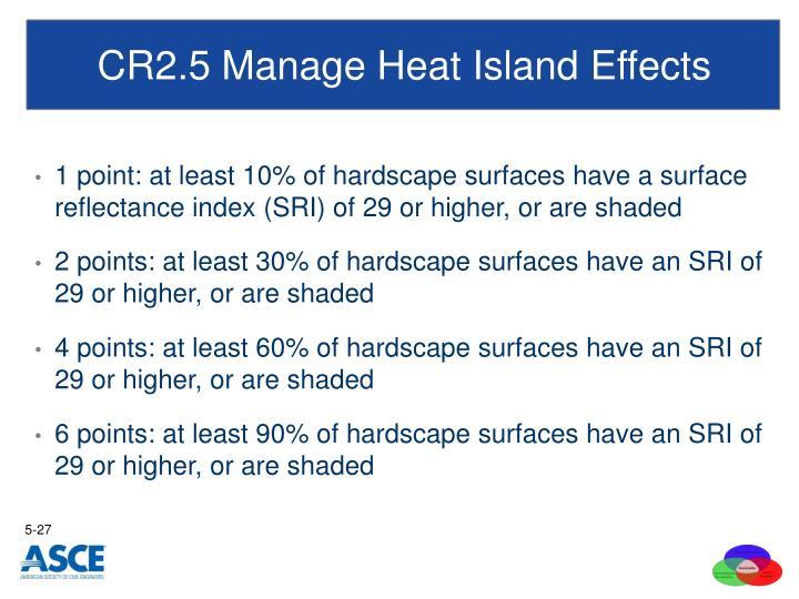 CR2.5 Manage Heat Island Effects