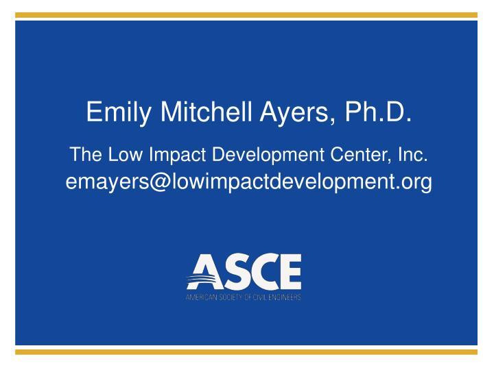 Emily mitchell ayers ph d