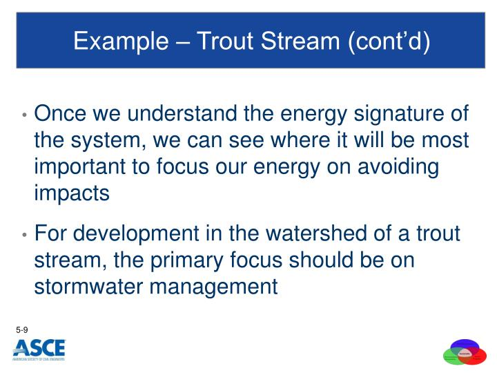 Example – Trout Stream (cont'd)