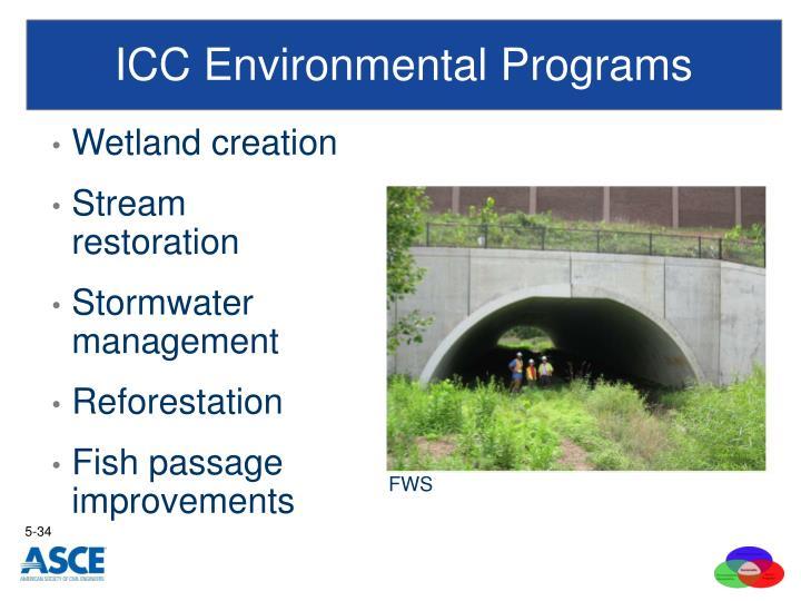 ICC Environmental Programs