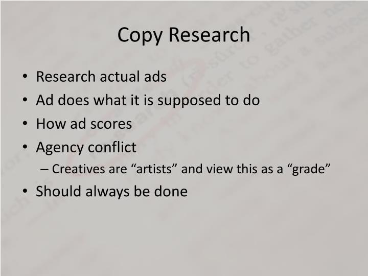 Copy Research