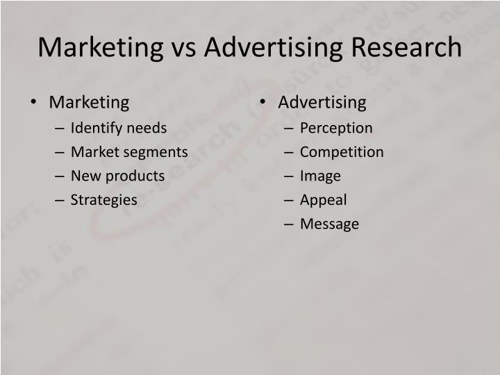 Marketing vs advertising research