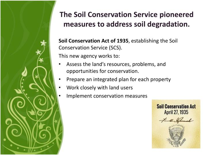 land degradation and conservation measures