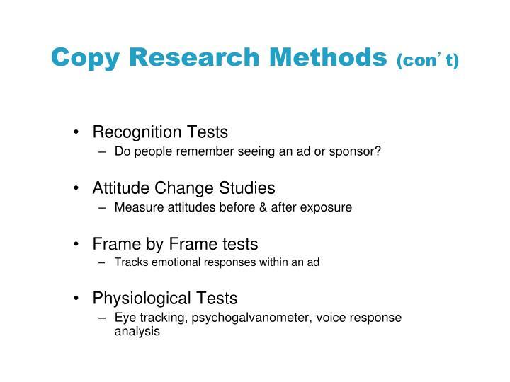 Copy Research Methods