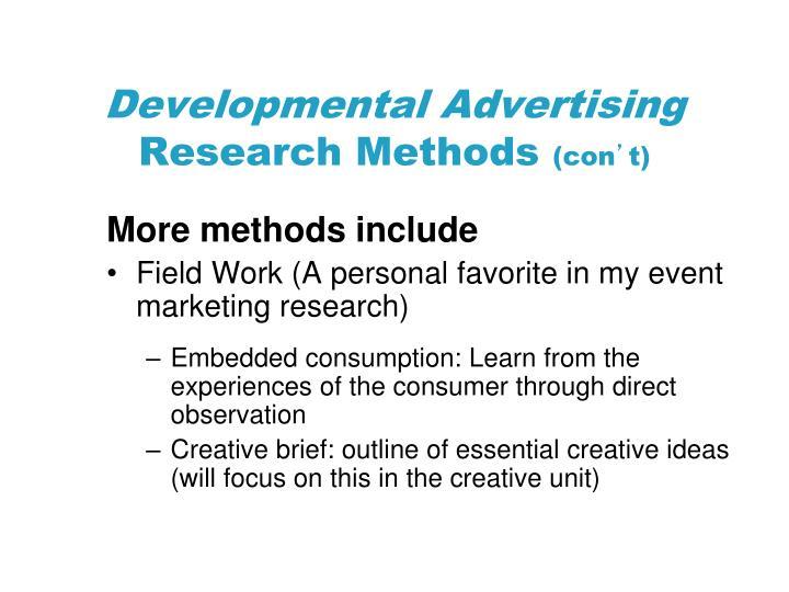 Developmental Advertising