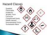 hazard classes