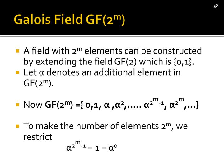 Galois Field GF(2
