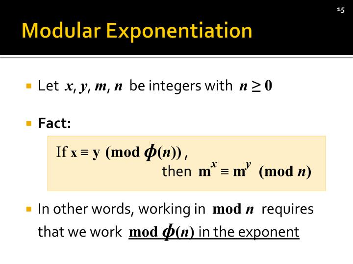 Modular Exponentiation