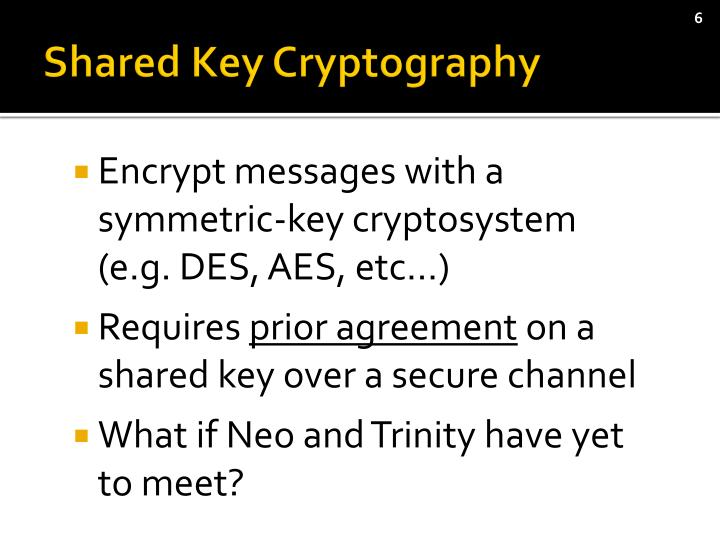 Shared Key Cryptography