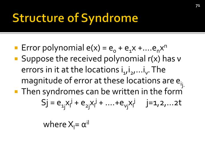 Structure of Syndrome