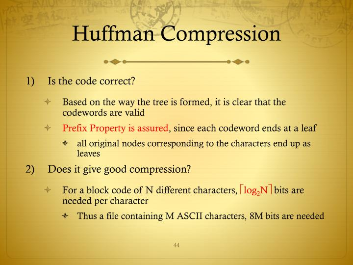 Huffman Compression