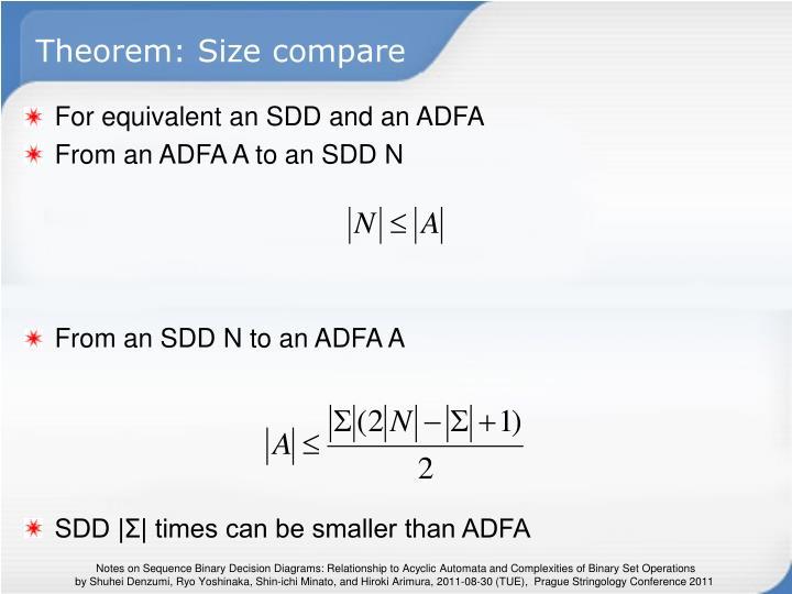 Theorem: Size compare