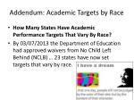 addendum academic targets by race