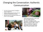 changing the conversation authentic communication