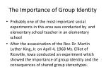 the importance of group identity