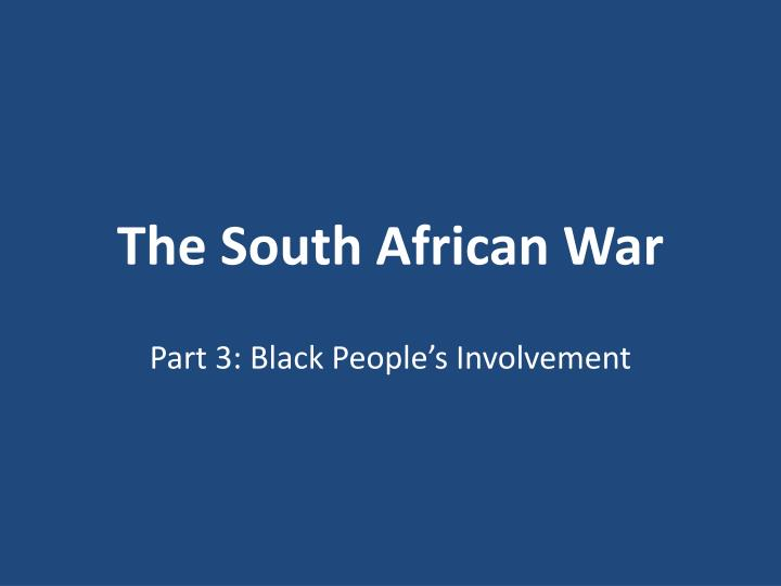 the south african war n.