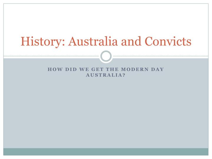 history australia and convicts n.