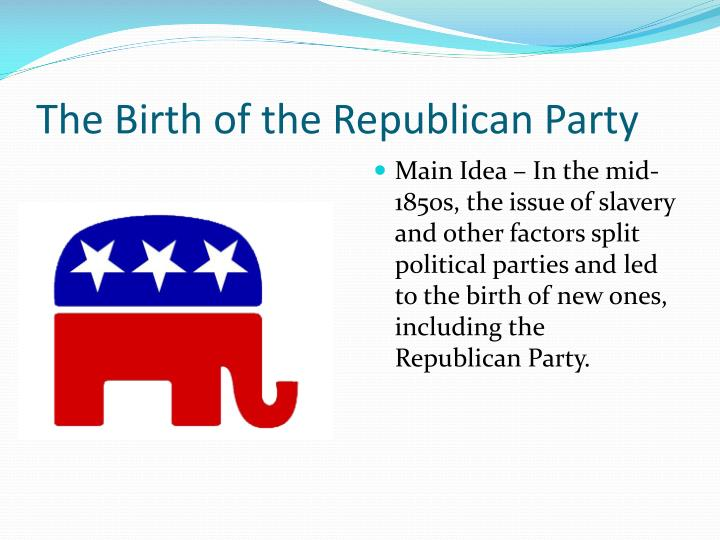 early history of the republican party In any case, jefferson and his acolytes changed their name to the democratic-republican party, which covered a lot of bases, and proceeded to protest nearly everything adams did.