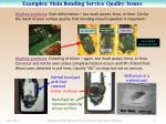 examples main bonding service quality issues