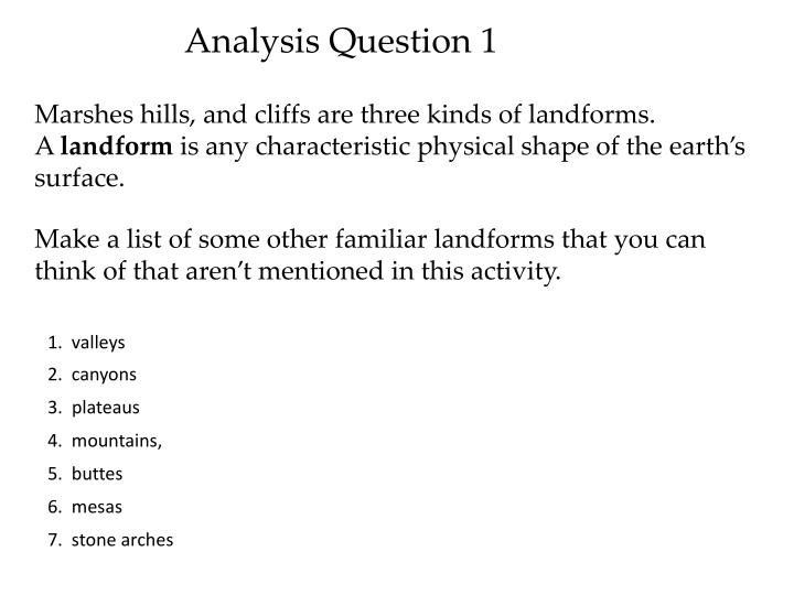 Analysis Question 1