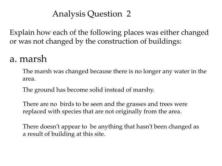 Analysis Question  2