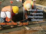 osha most frequently cited serious violations