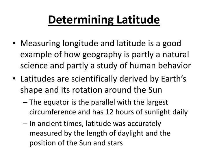 Determining Latitude