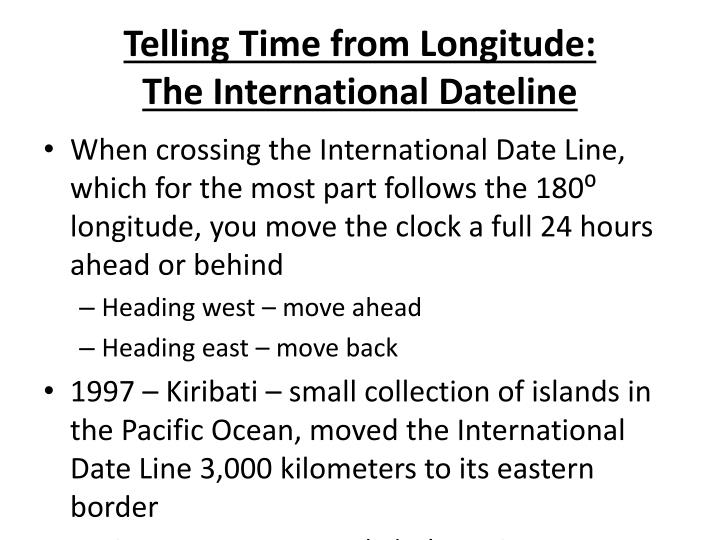 Telling Time from Longitude: