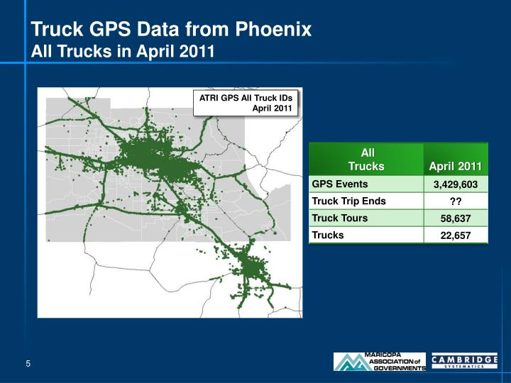 Truck GPS Data from Phoenix