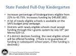 state funded full day kindergarten