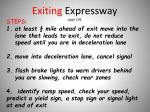 exiting expressway page 236