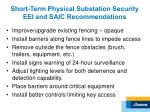 short term physical substation security eei and saic recommendations