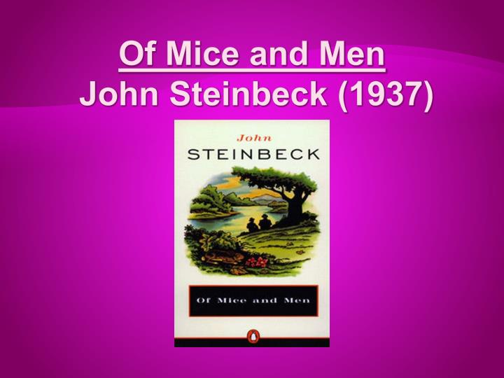 an analysis of foreshadowing in of mice and men One of the best examples for the use of foreshadowing in literature is 'of mice and men' john steinbeck has used the technique of foreshadowing almost across the length and breadth of the story that explains why the story appears that enticing, as it is.