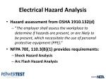 electrical hazard analysis2