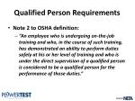 qualified person requirements5