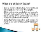 what do children learn7