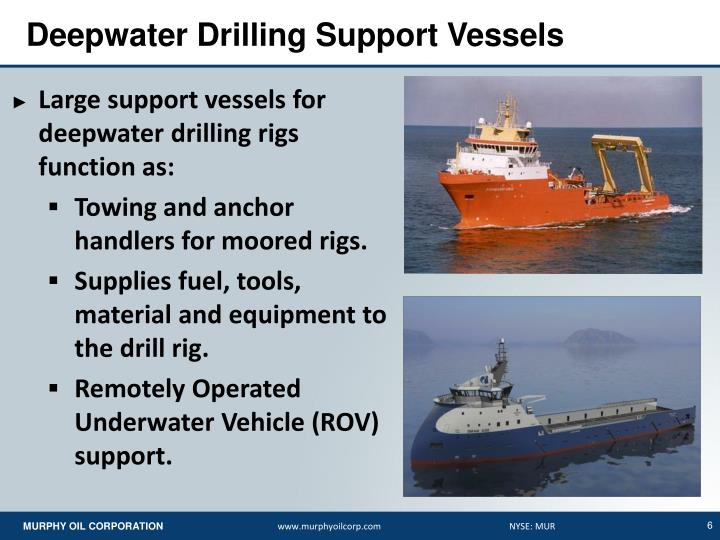 Deepwater Drilling Support Vessels