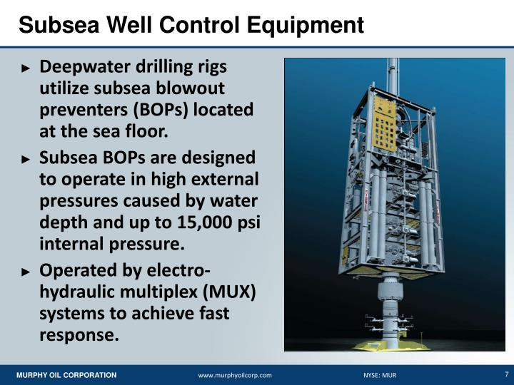 Subsea Well Control Equipment