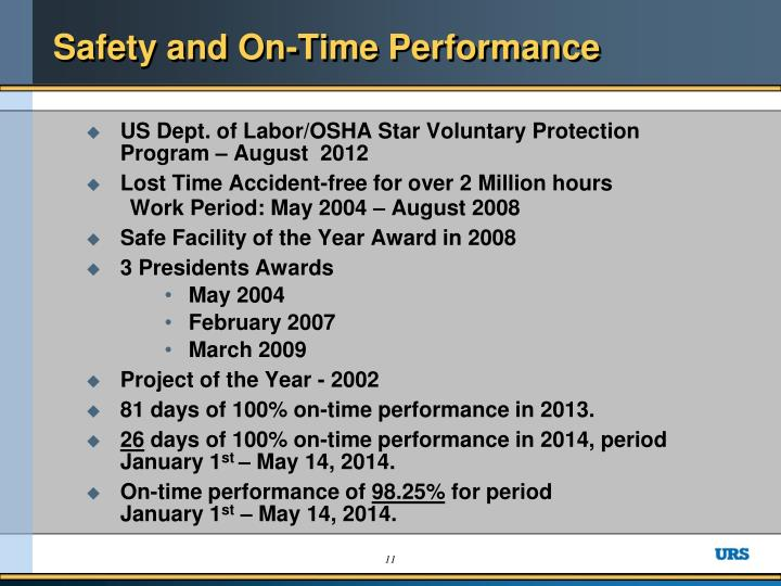Safety and On-Time Performance