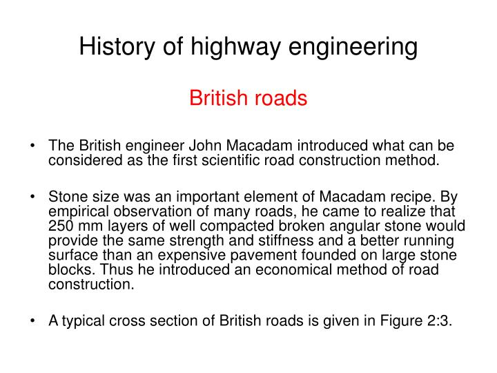 History of highway engineering