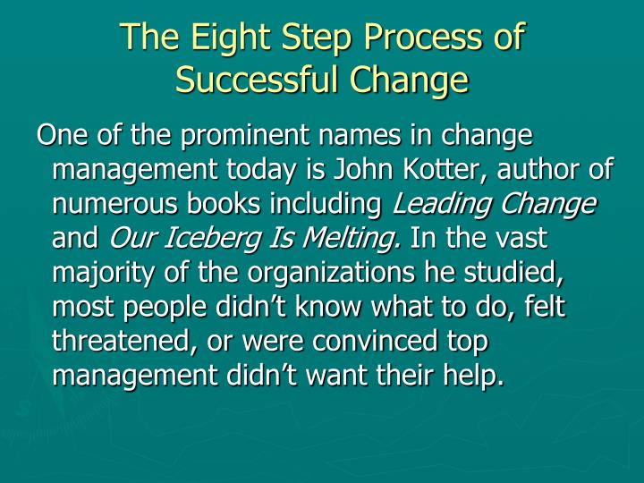The Eight Step Process of