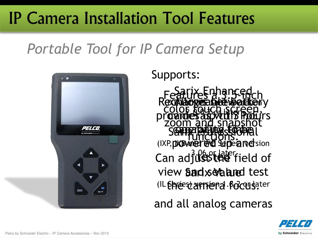 PPT - Pelco IP Camera Accessories November 2013 PowerPoint