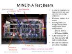 miner n a test beam