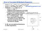 error in truncated 2d multipole expansion1